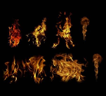Языки пламени psd